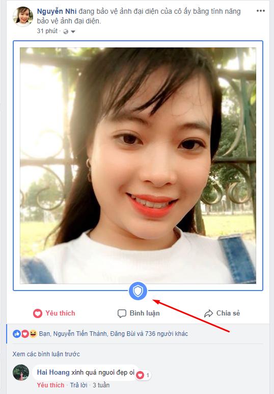 các bước bật tạo khiên avatar bảo vệ facebook
